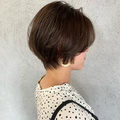 ショートヘア ショート ミニボブ フェミニン ヘアスタイルや髪型の写真・画像