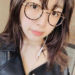 眼鏡 グラデーション 黒髪 ヴィーナスコレクション ヘアスタイルや髪型の写真・画像