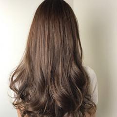 ピンク エレガント ベージュ ロング ヘアスタイルや髪型の写真・画像
