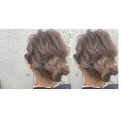 お団子 ヘアアレンジ ロング ナチュラル ヘアスタイルや髪型の写真・画像