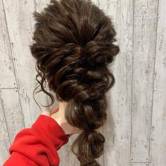 ガーリー ヘアアレンジ 結婚式ヘアアレンジ ロング ヘアスタイルや髪型の写真・画像
