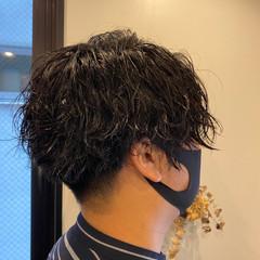 メンズヘア メンズ ショート メンズパーマ ヘアスタイルや髪型の写真・画像