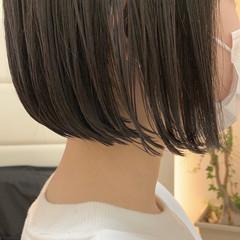 ボブ ミニボブ ショートボブ 切りっぱなしボブ ヘアスタイルや髪型の写真・画像