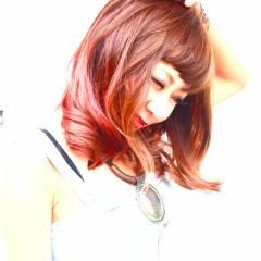 渋谷系 ミディアム 秋 オン眉 ヘアスタイルや髪型の写真・画像