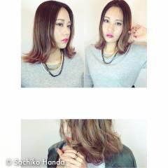 愛され 外国人風カラー ミディアム 秋 ヘアスタイルや髪型の写真・画像