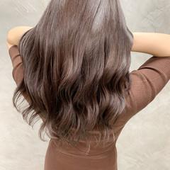 ピンクブラウン ナチュラル 秋冬スタイル ラベンダーピンク ヘアスタイルや髪型の写真・画像
