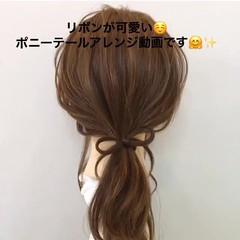 セミロング デート ヘアアレンジ ナチュラル ヘアスタイルや髪型の写真・画像