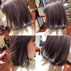 外国人風 ボブ 暗髪 色気 ヘアスタイルや髪型の写真・画像