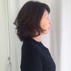 オフィス ナチュラル ロブ エレガント ヘアスタイルや髪型の写真・画像