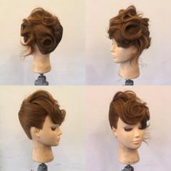 夜会巻 パーティ ヘアアレンジ 結婚式 ヘアスタイルや髪型の写真・画像