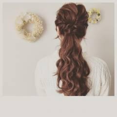 パーティ ヘアアレンジ ロング ゆるふわ ヘアスタイルや髪型の写真・画像