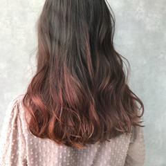 ダブルカラー グラデーションカラー インナーカラー ハイトーン ヘアスタイルや髪型の写真・画像