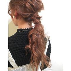 ポニーテール 簡単ヘアアレンジ 外国人風 ショート ヘアスタイルや髪型の写真・画像