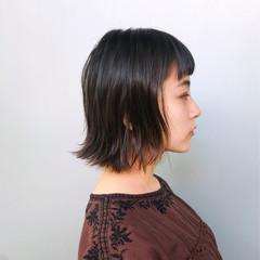 ボブ 大人女子 小顔 オフィス ヘアスタイルや髪型の写真・画像