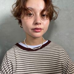 ショート ハンサムバング モード ショートヘア ヘアスタイルや髪型の写真・画像