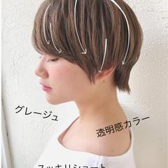 色気 ナチュラル 小顔 ショート ヘアスタイルや髪型の写真・画像