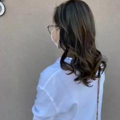 コントラストハイライト セミロング ハイトーン ストリート ヘアスタイルや髪型の写真・画像