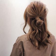 簡単ヘアアレンジ 大人女子 ハーフアップ ヘアアレンジ ヘアスタイルや髪型の写真・画像