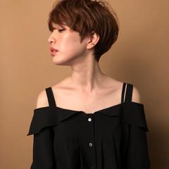 外国人風カラー こなれ感 ショート 大人女子 ヘアスタイルや髪型の写真・画像