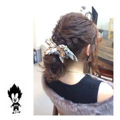 ヘアアレンジ ポニーテール ヘアアクセ ナチュラル ヘアスタイルや髪型の写真・画像