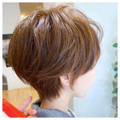 小顔ショート ハンサムショート ショート ショートヘア ヘアスタイルや髪型の写真・画像