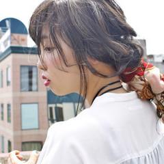 ヘアアレンジ 簡単ヘアアレンジ 大人かわいい ハイライト ヘアスタイルや髪型の写真・画像