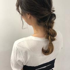 簡単ヘアアレンジ ミディアム フェミニン 結婚式 ヘアスタイルや髪型の写真・画像