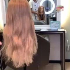 アイロンなしスタイリング ロング フェミニン 不器用さん向け簡単アレンジ ヘアスタイルや髪型の写真・画像