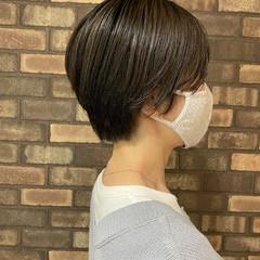 大人ショート ショートヘア ハンサムショート スロウ ヘアスタイルや髪型の写真・画像