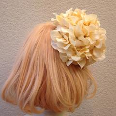 ヘアアレンジ ボブ フェミニン 成人式 ヘアスタイルや髪型の写真・画像
