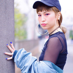 ヘアアレンジ キャップ 簡単ヘアアレンジ ストリート ヘアスタイルや髪型の写真・画像