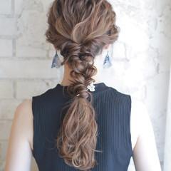 簡単ヘアアレンジ ハイライト アッシュ ヘアアレンジ ヘアスタイルや髪型の写真・画像