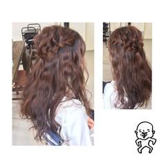 ヘアアレンジ 結婚式 ナチュラル 編み込み ヘアスタイルや髪型の写真・画像