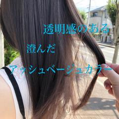 アッシュ エレガント アッシュグレージュ アッシュグレー ヘアスタイルや髪型の写真・画像