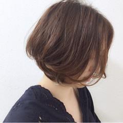 ブラウンベージュ ヌーディベージュ ベージュ ボブ ヘアスタイルや髪型の写真・画像