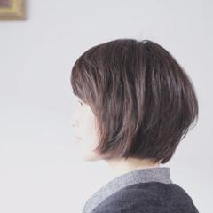 大人グラボブ ボブ ミルクティーグレージュ グレージュ ヘアスタイルや髪型の写真・画像