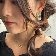 ガーリー 簡単ヘアアレンジ ヘアアレンジ ヘアメイク ヘアスタイルや髪型の写真・画像