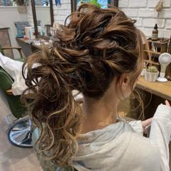 フェミニン デート 結婚式 ヘアアレンジ ヘアスタイルや髪型の写真・画像