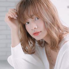 アンニュイほつれヘア ナチュラル デジタルパーマ ミディアム ヘアスタイルや髪型の写真・画像