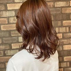 ナチュラル 大人ミディアム ピンクアッシュ アディクシーカラー ヘアスタイルや髪型の写真・画像