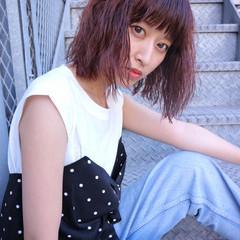 小顔 ラベンダーピンク こなれ感 大人女子 ヘアスタイルや髪型の写真・画像