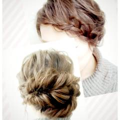 ルーズ ゆるふわ ヘアアレンジ ナチュラル ヘアスタイルや髪型の写真・画像