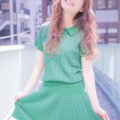 春 ゆるふわ ロング ガーリー ヘアスタイルや髪型の写真・画像