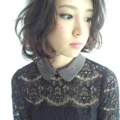 モテ髪 フェミニン ナチュラル ボブ ヘアスタイルや髪型の写真・画像