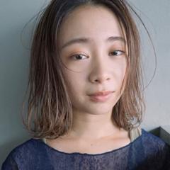 ストレート ミディアム ナチュラル 透明感 ヘアスタイルや髪型の写真・画像