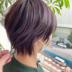 ウルフ女子 パープルカラー バイオレットカラー ストリート ヘアスタイルや髪型の写真・画像