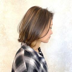 インナーカラー ハイライト 3Dハイライト ナチュラル ヘアスタイルや髪型の写真・画像