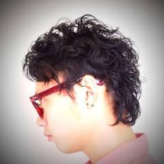 黒髪 ストリート パーマ ヘアスタイルや髪型の写真・画像
