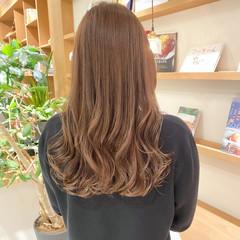 透明感カラー ブリーチなし ミルクティーグレージュ ミルクティーベージュ ヘアスタイルや髪型の写真・画像