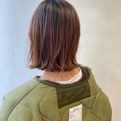切りっぱなしボブ ミニボブ ボブ ナチュラル ヘアスタイルや髪型の写真・画像